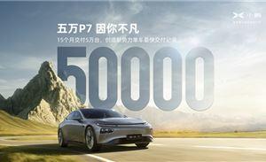 历时15个月,小鹏P7累积交付达5万台