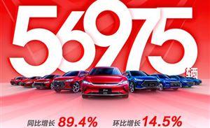 比亚迪7月销量实现双增长,新能源车型突破5万台