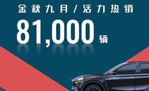 上汽乘用车9月热销8.1万辆,同环比增势不减
