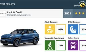 中国品牌闪耀欧洲 领克01荣膺Euro NCAP最高五星安全评级
