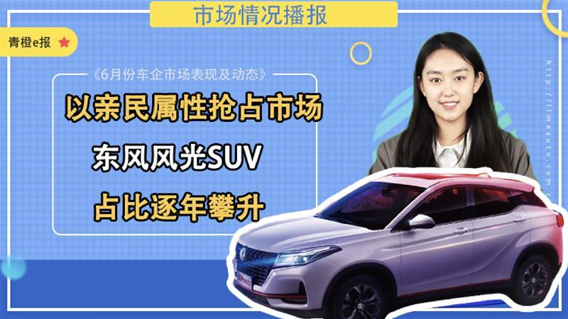 以亲民属性抢占市场,东风风光SUV逐年攀升