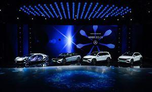 EQ家族三车首发,奔驰电动化进程加速